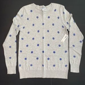 NWT! Old Navy Sweater Gray w/ Blue Ship Wheel Med.